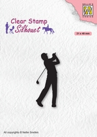 SIL069 Clear stamps Men-things Golfer