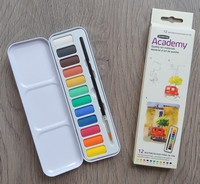 Derwent Derwent Academy 12 Watercolour pans in tin
