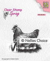SPCS019 Clear Stamps Spring Mother hen