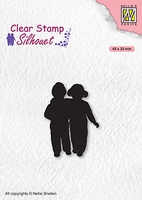 SIL075 Clear stamps Silhouettes Close Friends