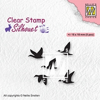 SIL081 Clear stamps Silhouettes Flying birds