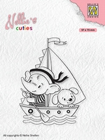 NCCS010Nellie's Cuties Clear stamps Young sailors