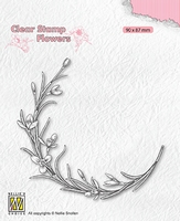 FLO029 Clear stamps Flowers Blooming twig