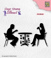 SIL091 Clear stamps Teenagers serie Terrace