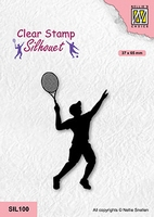 SIL100 Silhouette Clear stamps sports Tennis player