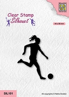 SIL101 Silhouette Clear stamps sports Woman soccer