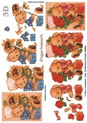 416940 - 3D Bears with flowers