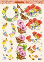 STR233 Flowers-Butterflies