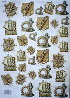 Embossed Nautical pictures
