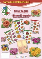 4ForYou booklet with 4 Flower 3D Sheets + Basic carton