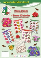 4ForYou booklet with 4 Flower 3D Sheets plus Basic carton