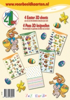 4ForYou Booklet with 4 Easter 3D Sheets + Basic carton