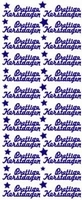 ST516WM Sticker Prettige Kerstdagen Wit/Multi