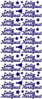 ST520G Sticker Zalig Kerstfeest Goud