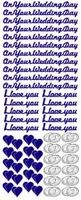ST806Z Sticker On your wedding days Zilver