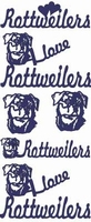 ST2101G Stickers I love Rottweilers Gou